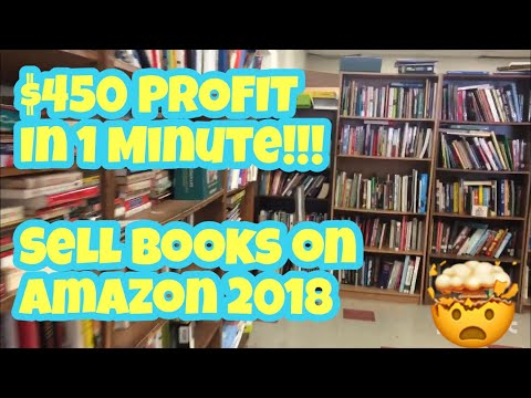 $450 In 1 Minute! How To Sell Books On Amazon In 2018!