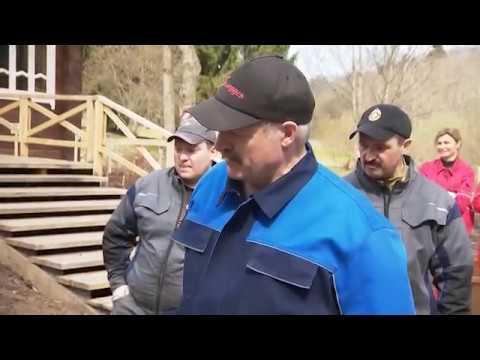 Лукашенко и его сыновья провели субботник на малой родине