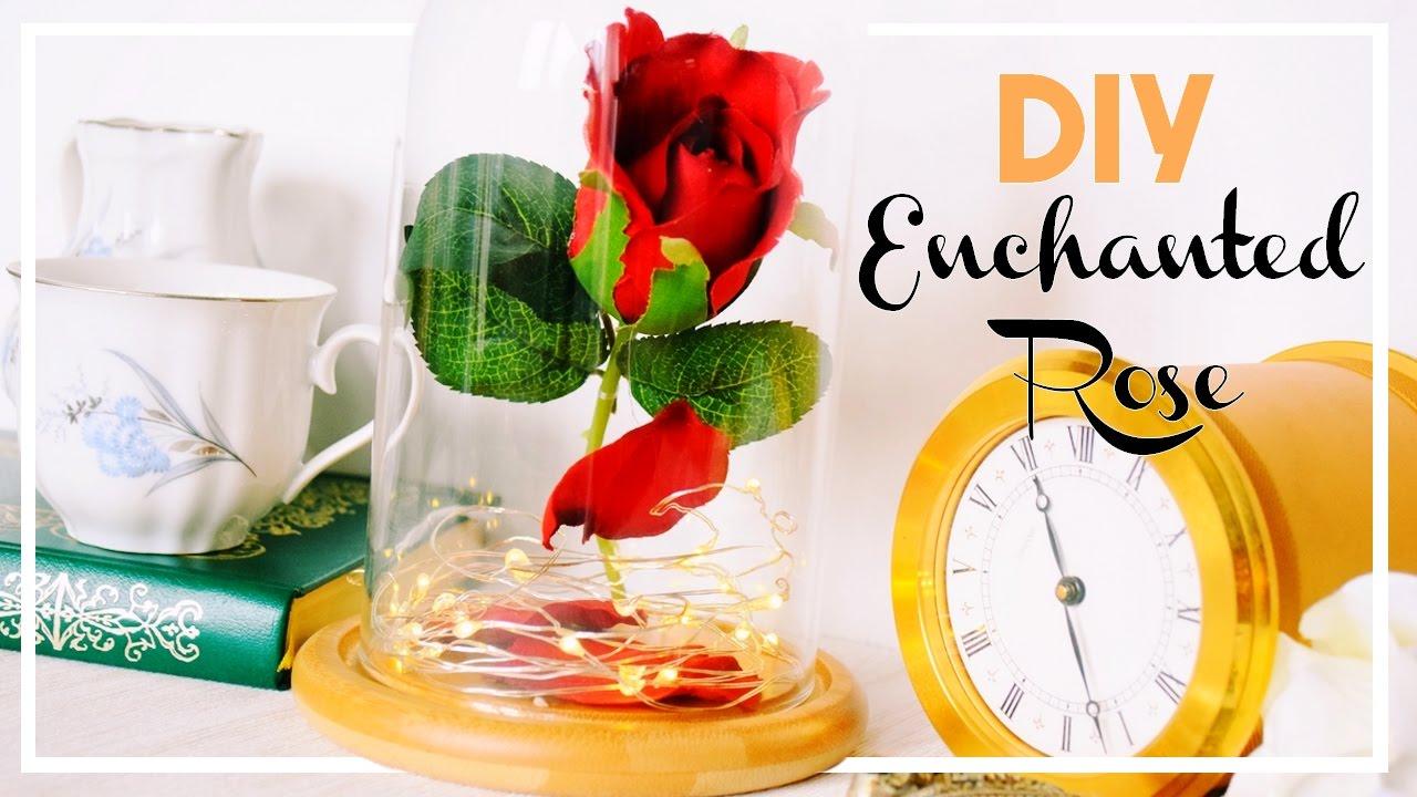 diy la rose enchant e de la belle et la b te de disney. Black Bedroom Furniture Sets. Home Design Ideas