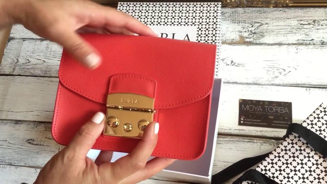 86830dd5875c Распаковка клатча Furla Metropolis mini MAPLE. Unboxing clutch Furla  Metropolis mini MAPLE
