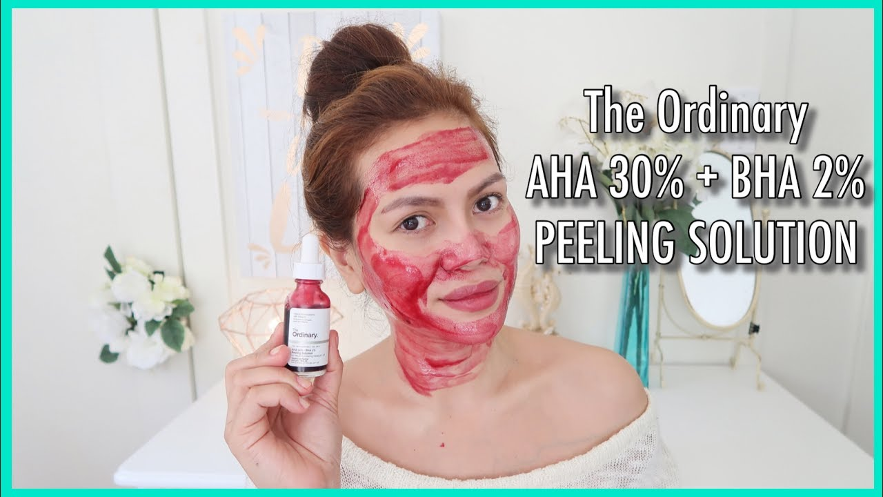 THE ORDINARY AHA 30% + BHA 2% PEELING SOLUTION - Review and Demo ...