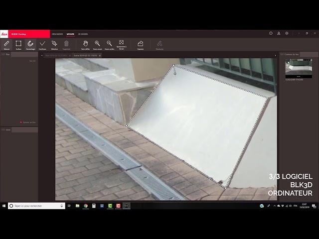 Leica BLK3D - Présentation du logiciel BLK3D sur ordinateur (3/3)