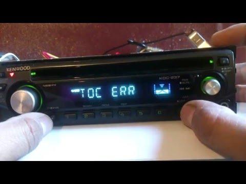 kenwood car stereo TOC ERROR