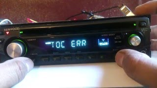 kenwood car stereo TOC ERROR