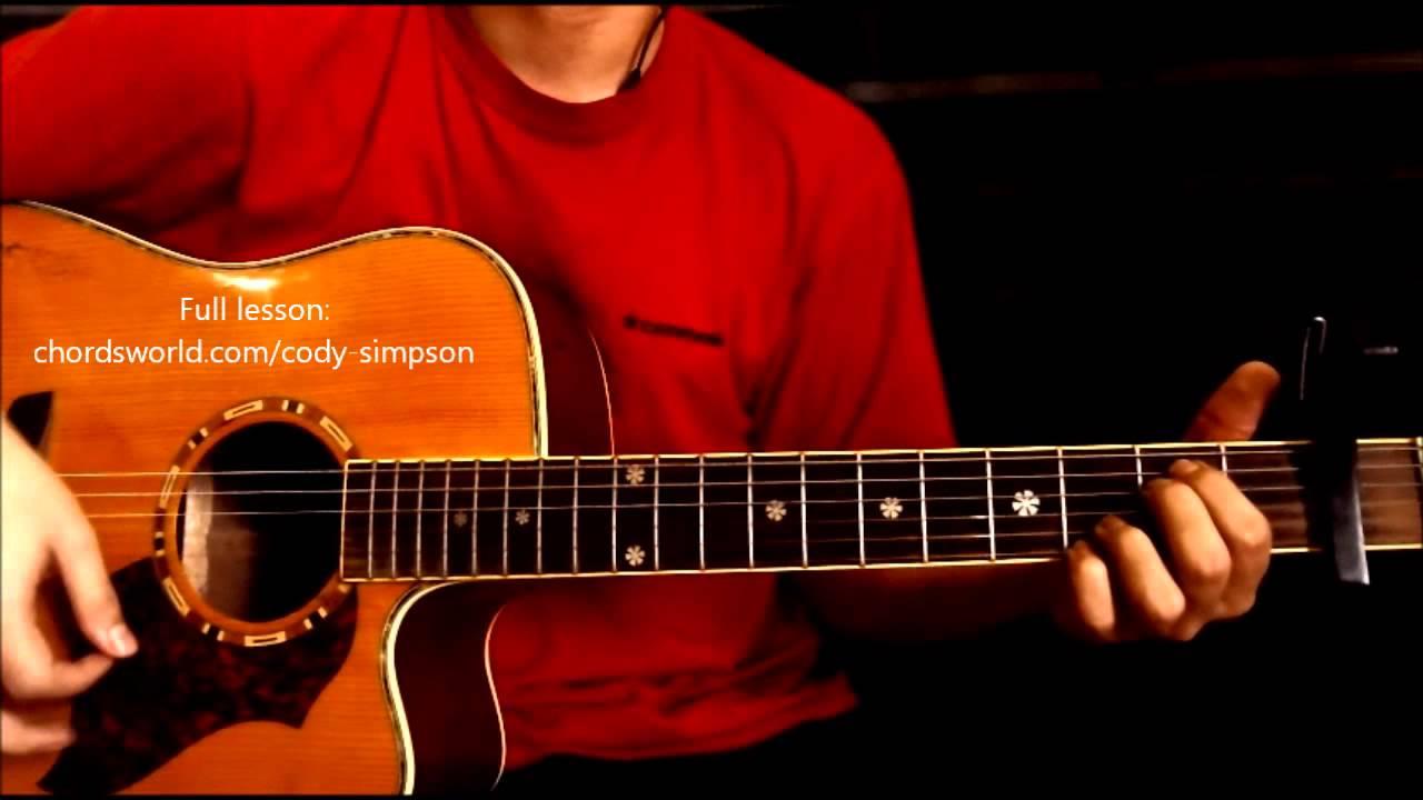 Pretty Brown Eyes Chords Cody Simpson Chordsworld Guitar