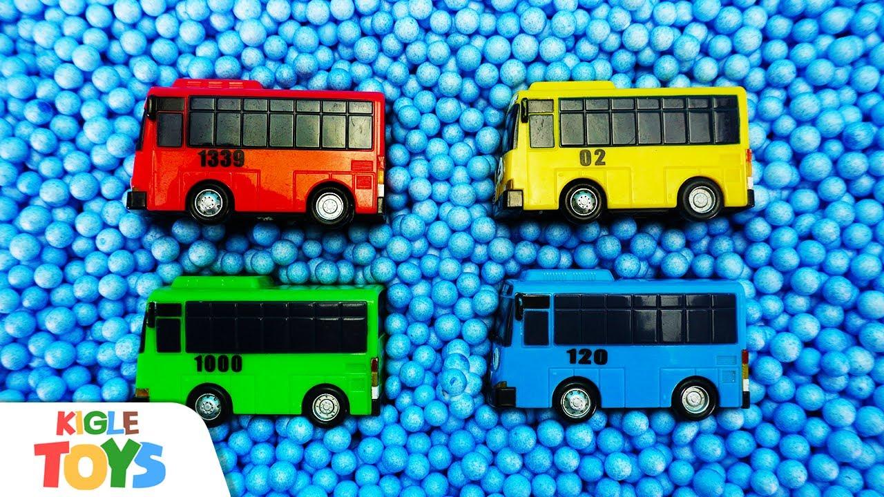 볼풀 괴물이 나타났어요! 장난감 버스 소방차 구급차 앰뷸런스 경찰차 | 타요 몬스터 폴리스 | 키글 토이 - KIGLE TOYS