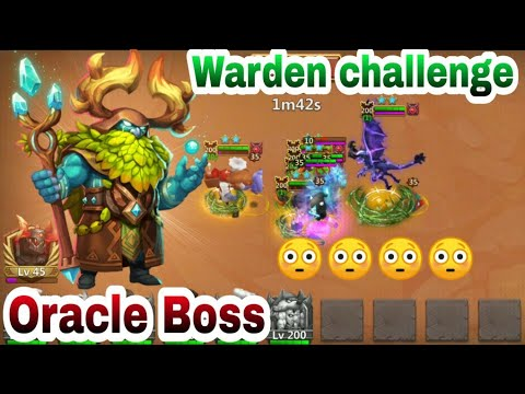Oracle Boss    Warden Challenge   Trying Different Things   Castle Clash