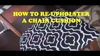 Diy: How To Reupholster A Chair Cushion