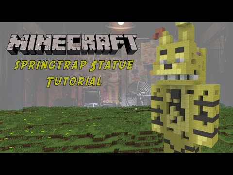 Minecraft Tutorial: Springtrap (Five Nights At Freddy's 3) Statue