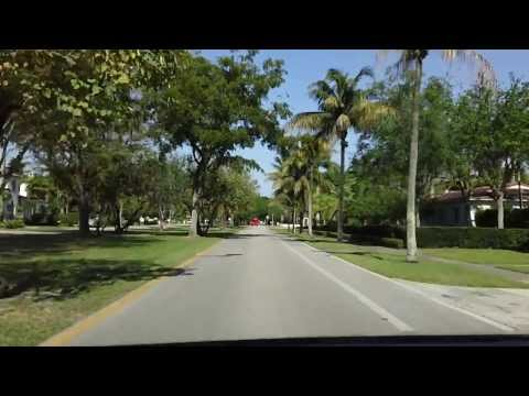 Driving around Miami - Coral Gables (HD)