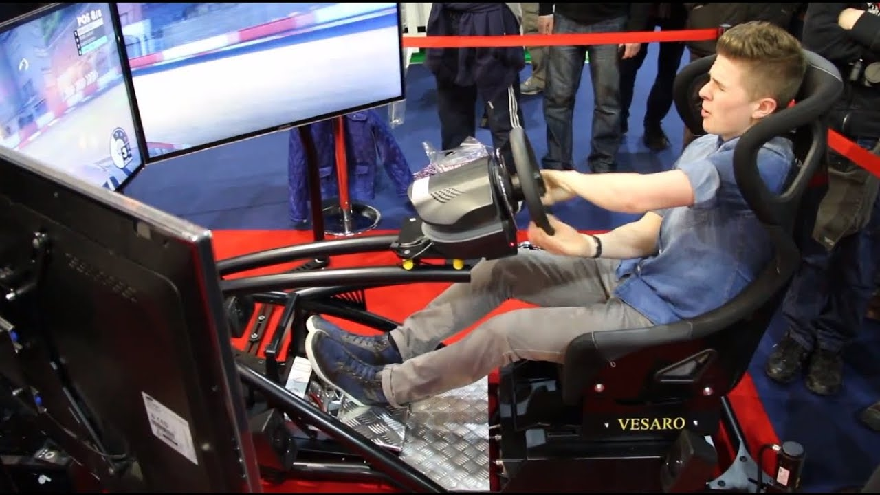 Vesaro Racing Seat  F1 Simulator  Close up on Hydraulics