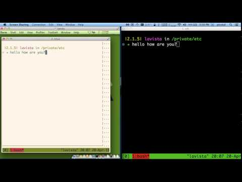 Repeat Pair Programming with Tmux Screencast by Flaviu Simihaian
