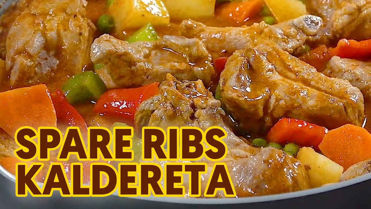 Spareribs Kaldereta Pork Ribs Stew Filipino Style Youtube