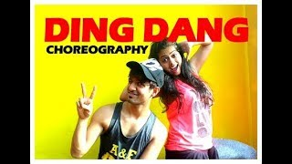 Ding Dang Dance Choreography I Easy Bollywood Dance Steps I Munna Michael I Vicky and aakanksha
