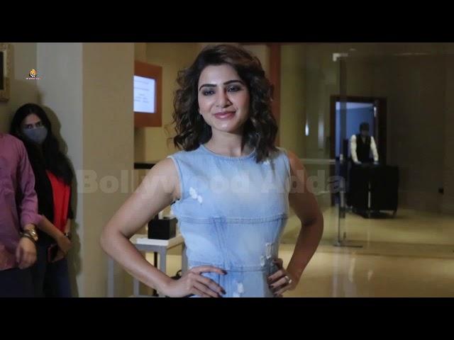 Samantha Akkineni & Manoj Bajpai Spotted Promoting Their Webseries The Family Man 2