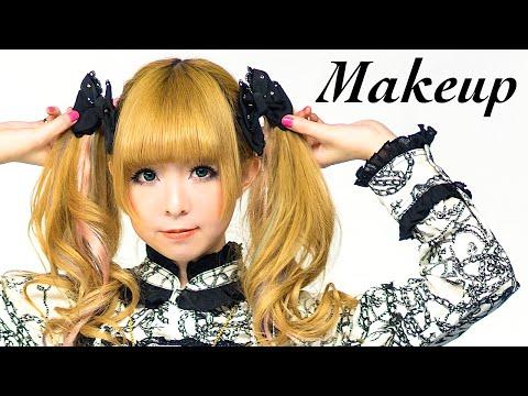 Kawaii GOTHIC LOLITA Makeup Tutorial  by Japanese model MOCO