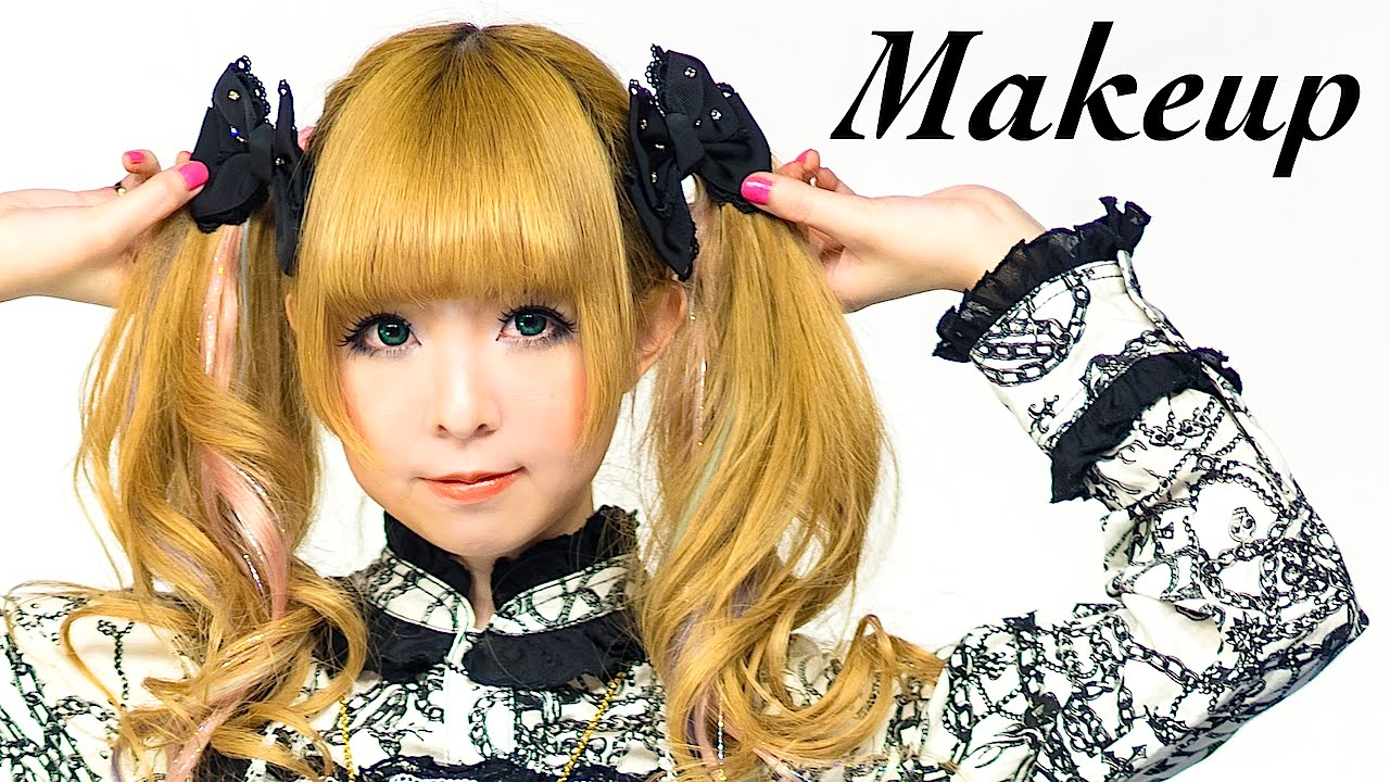 Kawaii Gothic Lolita Makeup Tutorial By Japanese Model
