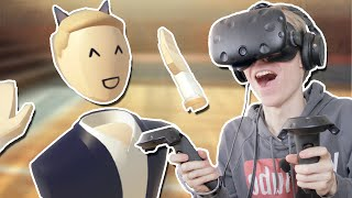 CRAZY SOCIAL VR MULTIPLAYER GAME! | Rec Room VR (HTC Vive Gameplay)