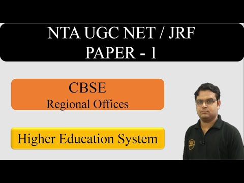 Higher Education UGC NET Paper 1 Part 10 || CBSE Regional offices - UGC (CBSE) NET JRF Exam