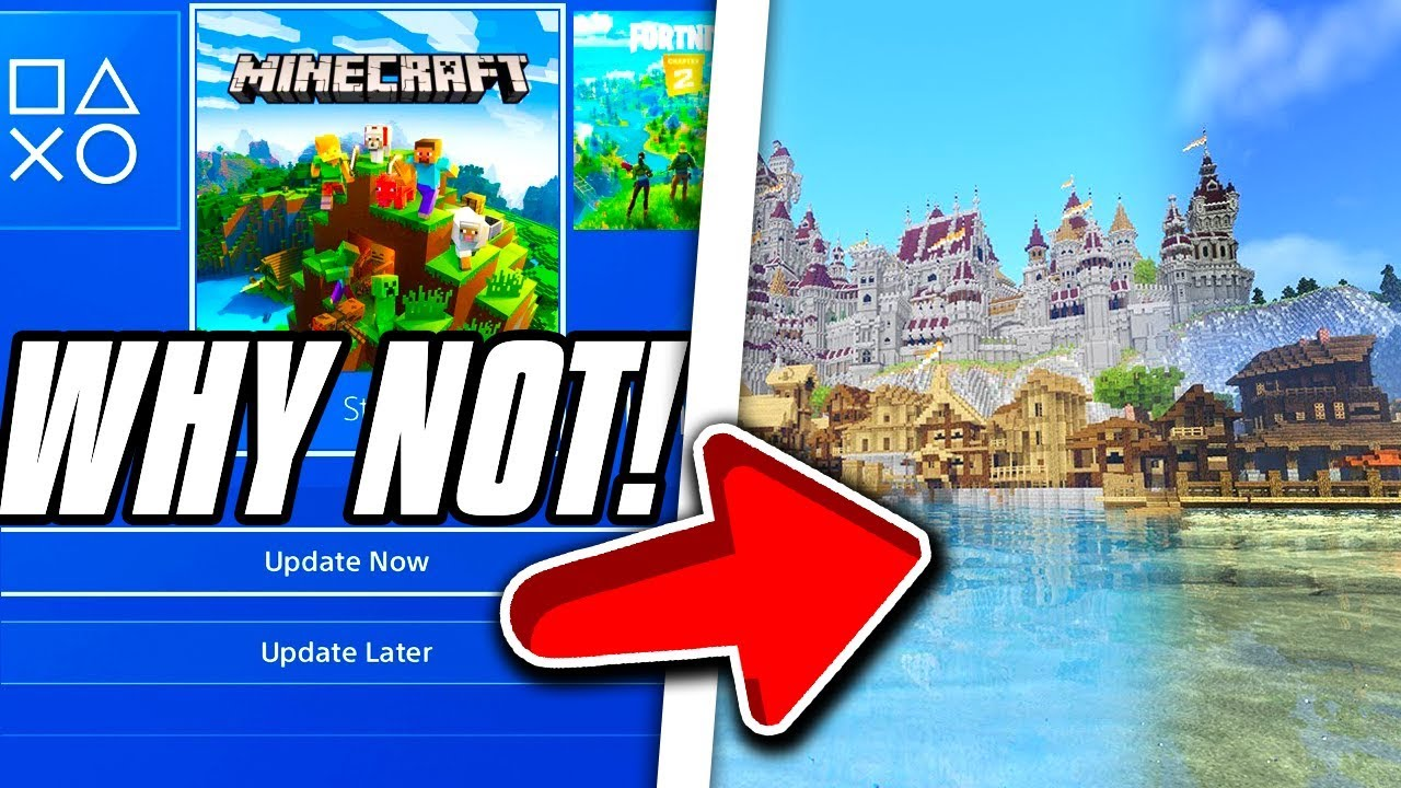 Minecraft PS4 Bedrock Edition Why You Can t Get Shaders