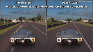 Gran Turismo Sport - Patch 1.19 vs 1.25 - Mercedes-Benz Sauber Mercedes C9 Sound Comparison