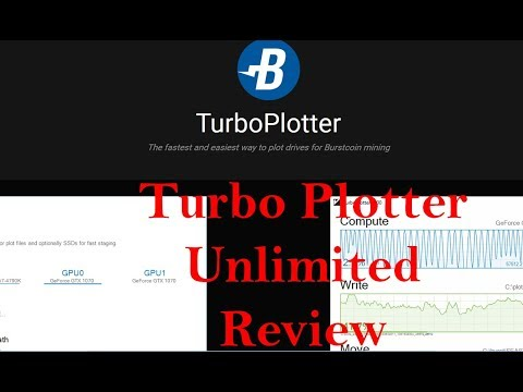 Burstcoin TURBO Plotter UNLIMITED Review and Test