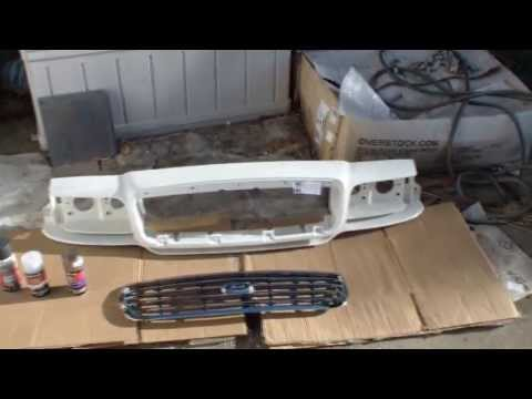 Crown Victoria Front Grill and Body Repair Tutorial