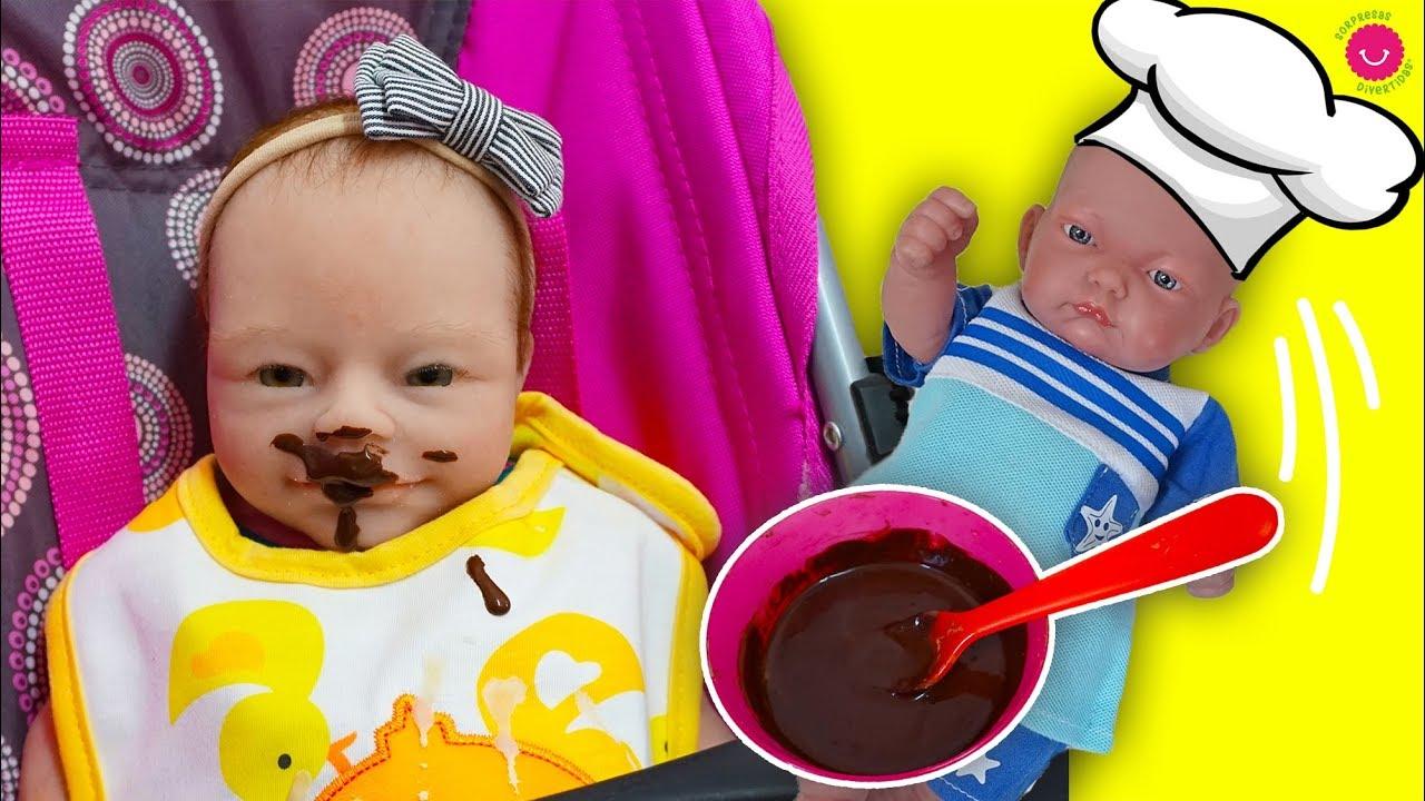 La bebé Anuk come PAPILLA de CHOCOLATE con Ben