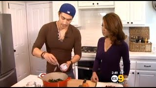 Chef Ronnie Woo Whips up a Quick Wilted Kale Salad