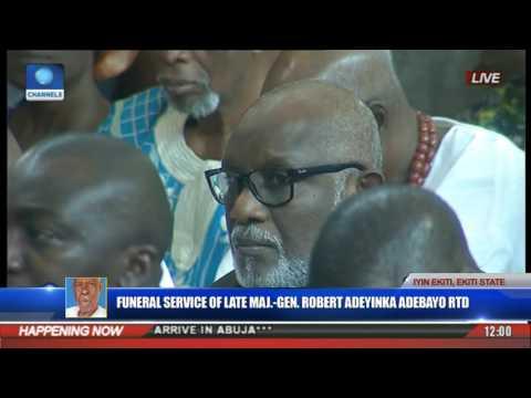 Funeral Service Of Major Gen Robert Adeyinka Adebayo Rtd Pt 4