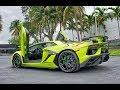 Lamborghini Aventador SVJ 759hp ANGRY BEAST Interior Exterior Start up & Drive at Lamborghini Miami