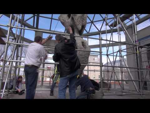 Installing Ugo Rondinone's sculpture
