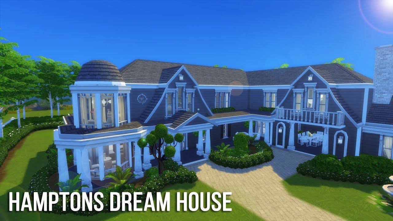 The sims 4 speed build hamptons dream house youtube for Dream house builder