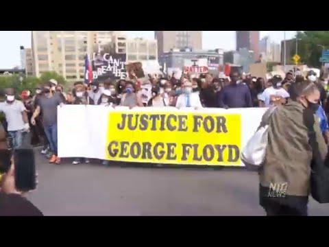 NY: Peaceful Vigil Honors George Floyd; Guardian Angels Fend Off Looters in NYC | NTD