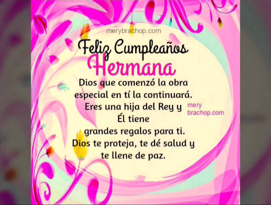 Feliz cumple hermanita YouTube