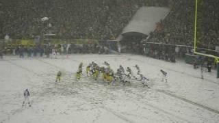 Packers in the snow ~ Lambeau Field Jan 12, 2008