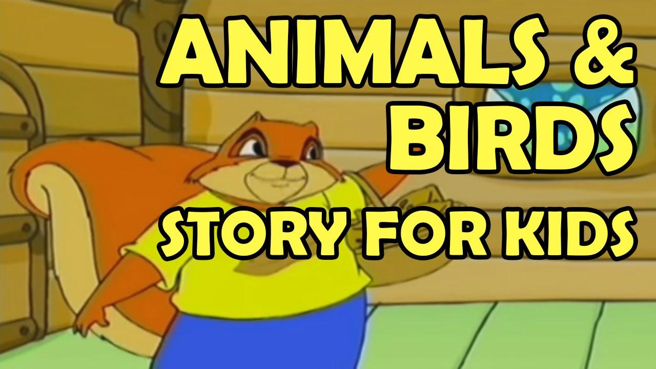 Animals & Birds Story for Kids 2015    Funny Animals Cartoons ...