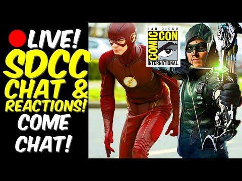 LIVE! #SDCC The Flash + Arrow CHAT + DCTV! Lets Talk! Tweet me @djairrick
