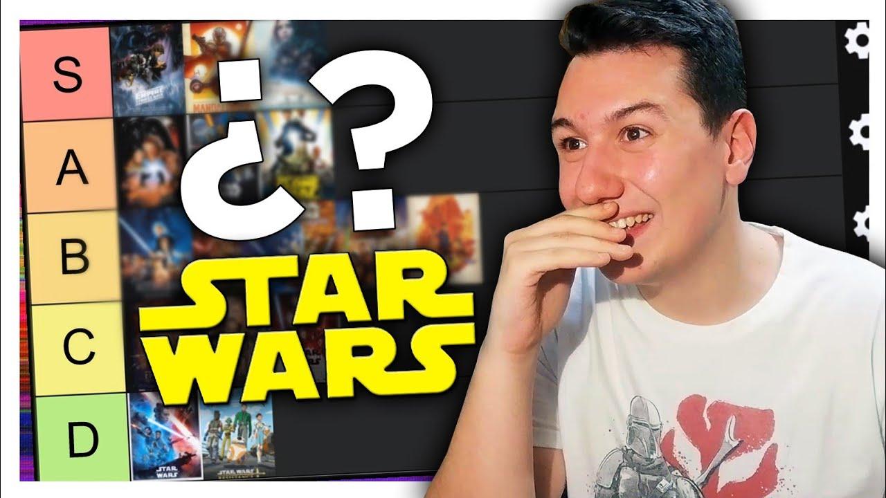 TIER LIST de PELÍCULAS de STAR WARS 💫 *ranking de series y películas*