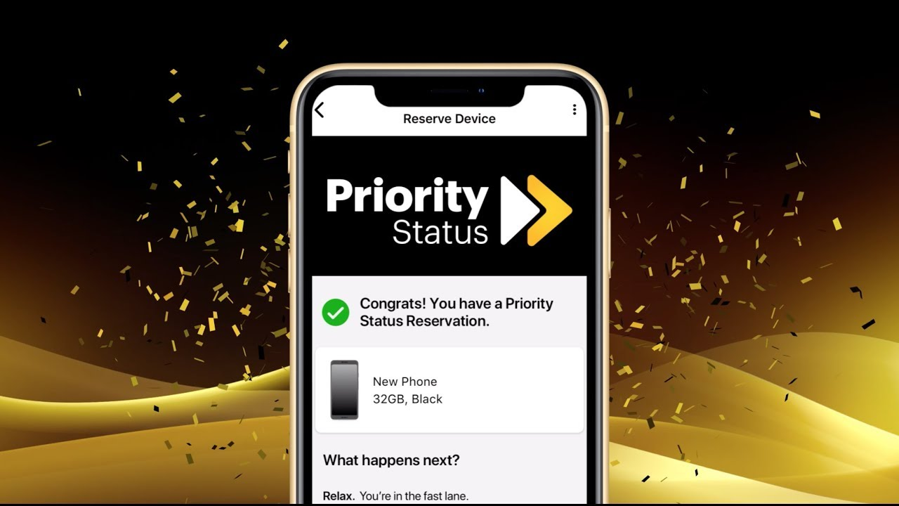 Sign up for Priority Status in the My Sprint app