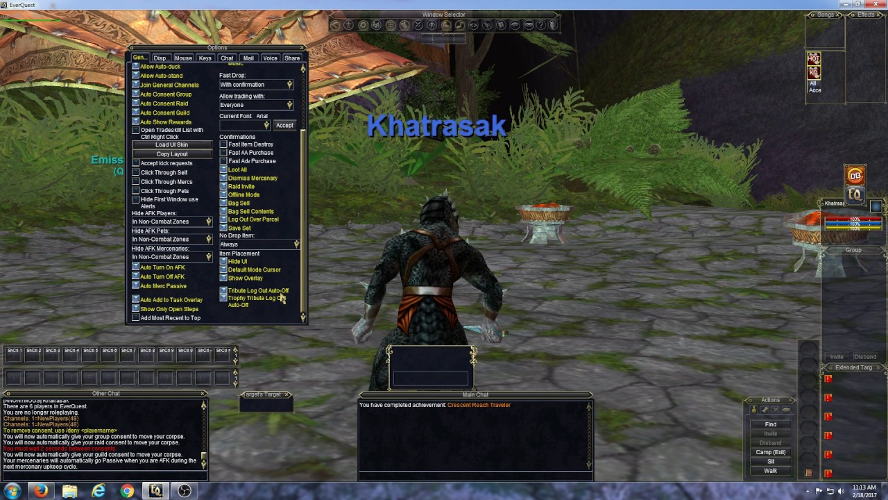 EverQuest - Setting Some Basic Options