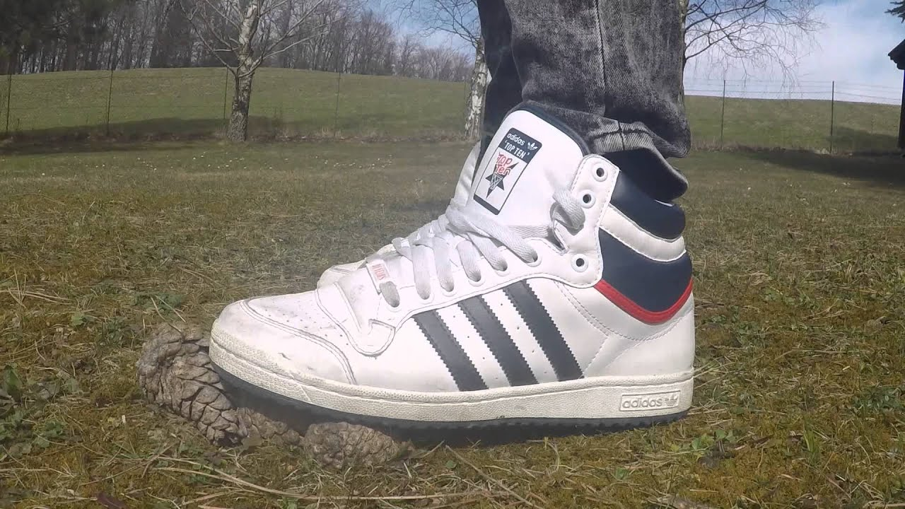 d1929a672bc adidas top ten with skinny jeans in the garden - YouTube