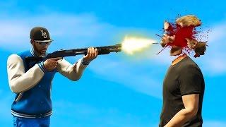 BRUTAL SHOTGUN HEADSHOT! (GTA 5 Funny Moments)