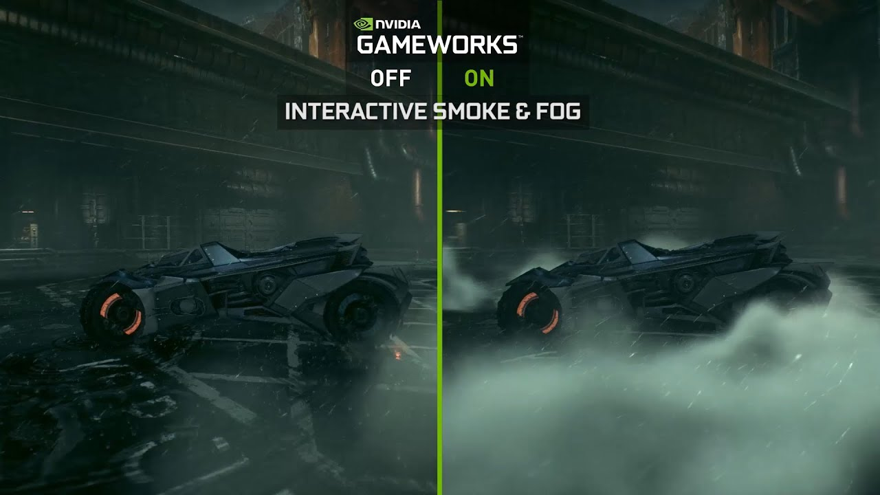 Batman Arkham Knight NVIDIA GameWorks Batmobile Video