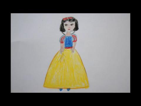 Prinzessin zeichnen - Schneewittchen malen - how to Draw ...