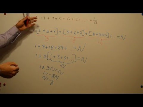 Sum of all natural numbers -1/8