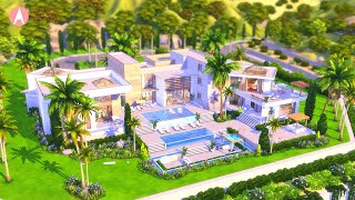 💎  Modern CELEBRITY MANSION 👠  📸  🌟 | The Sims 4 Stop Motion