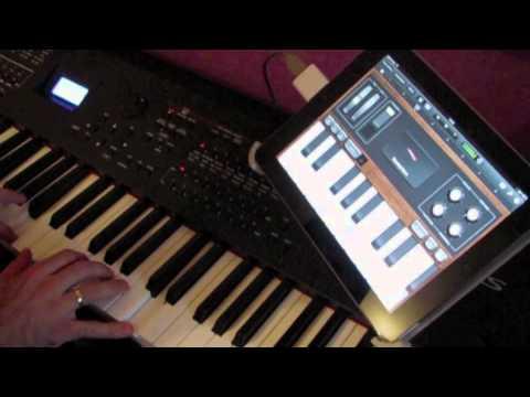 garage band ipad midi keyboard yamaha s90xs youtube. Black Bedroom Furniture Sets. Home Design Ideas