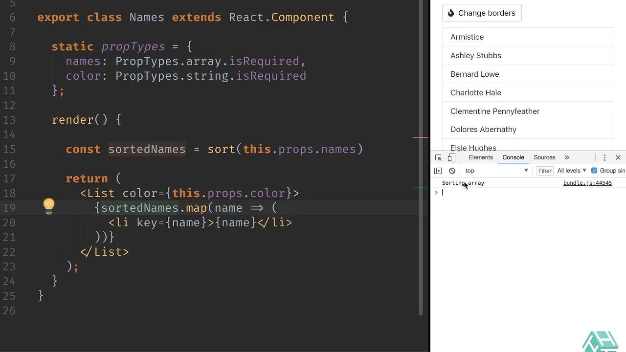 Get derived state from props in React 16 3