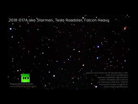 Астрофотограф заснял Tesla Илона Маска в космосе